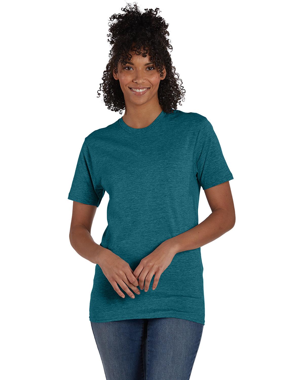 Hanes Unisex Perfect-T T-Shirt JADE PINE HEATHR