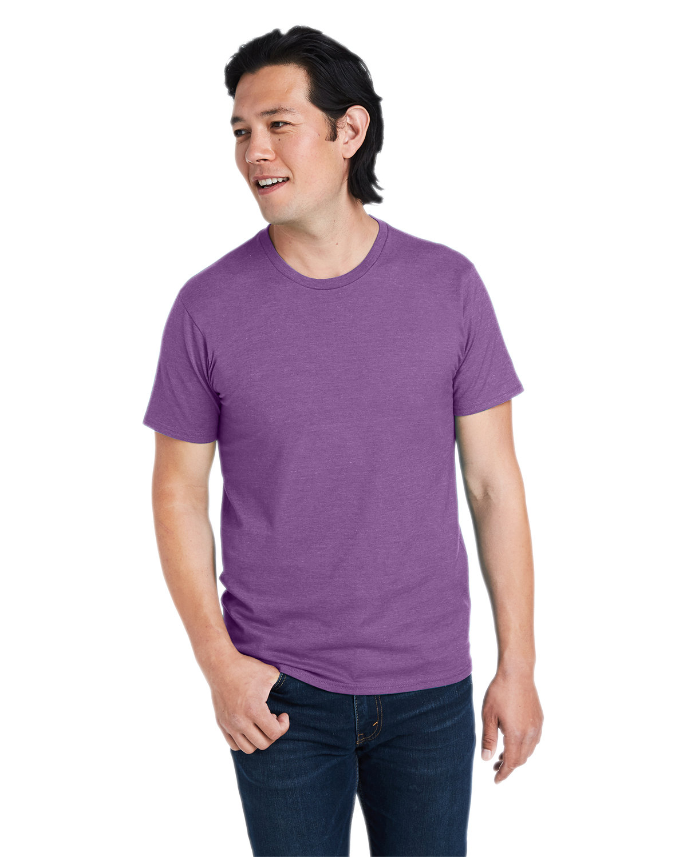 Hanes Unisex Perfect-T T-Shirt PURPLE RAIN HTHR