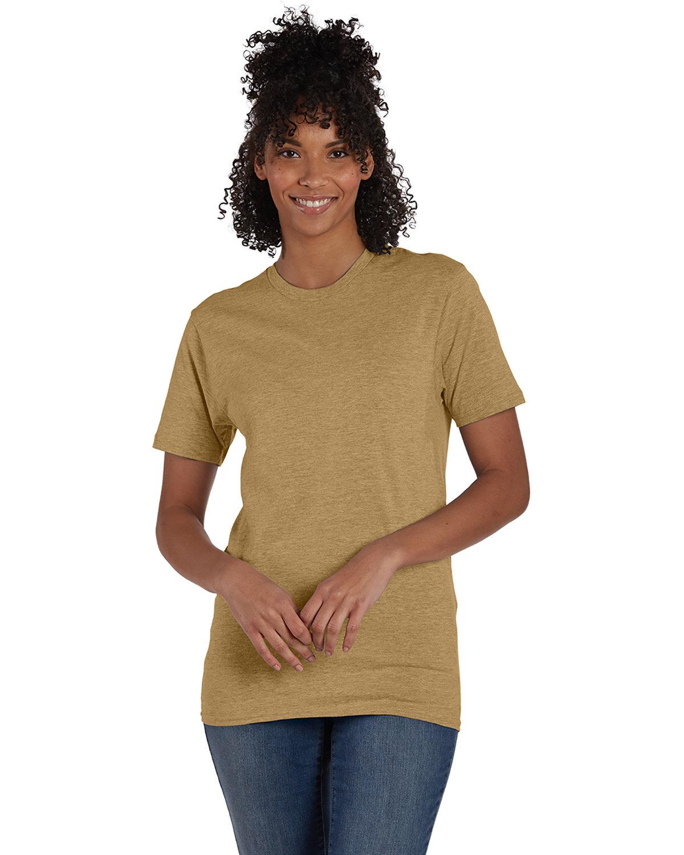 Hanes Unisex Perfect-T T-Shirt BROWN SUGAR HTHR