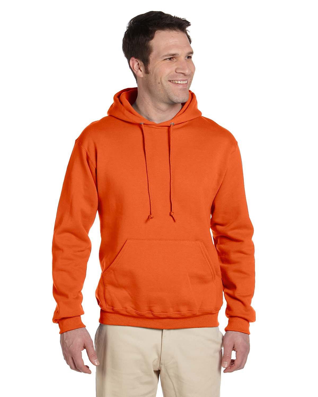 Jerzees Adult Super Sweats® NuBlend® Fleece Pullover Hooded Sweatshirt SAFETY ORANGE