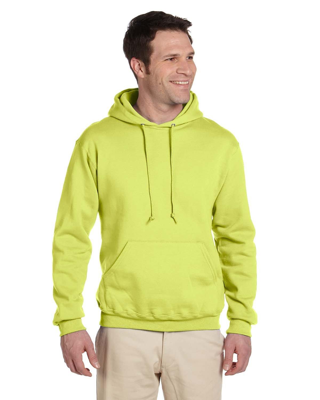 Jerzees Adult Super Sweats® NuBlend® Fleece Pullover Hooded Sweatshirt SAFETY GREEN