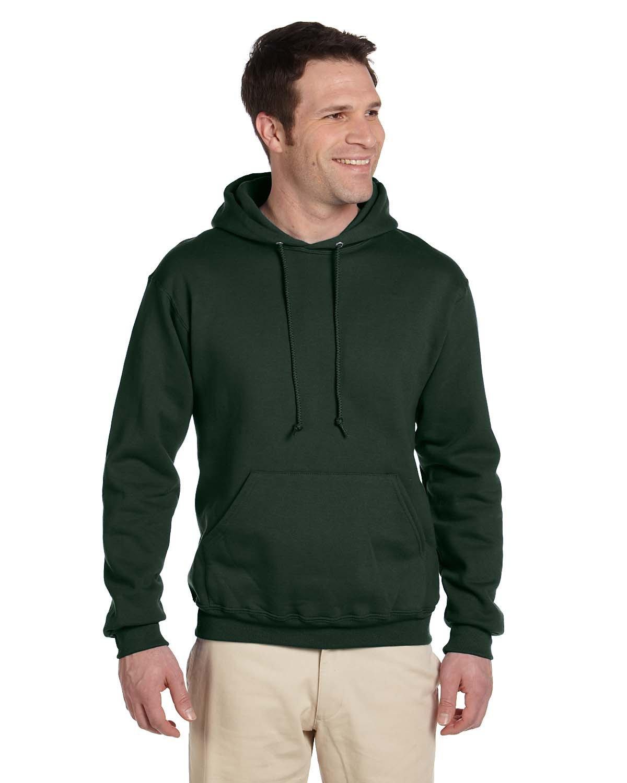 Jerzees Adult Super Sweats® NuBlend® Fleece Pullover Hooded Sweatshirt FOREST GREEN
