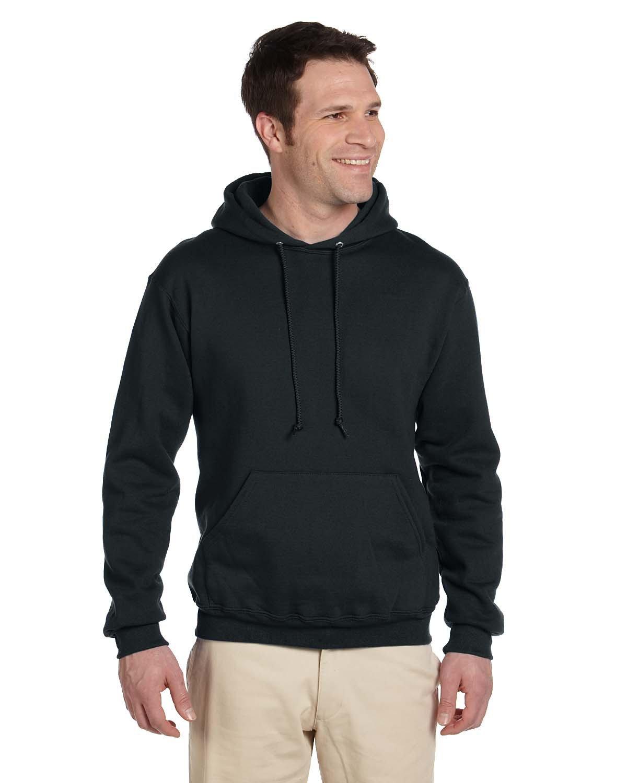 Jerzees Adult Super Sweats® NuBlend® Fleece Pullover Hooded Sweatshirt BLACK