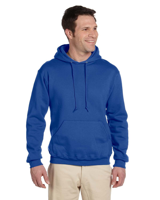 Jerzees Adult Super Sweats® NuBlend® Fleece Pullover Hooded Sweatshirt ROYAL