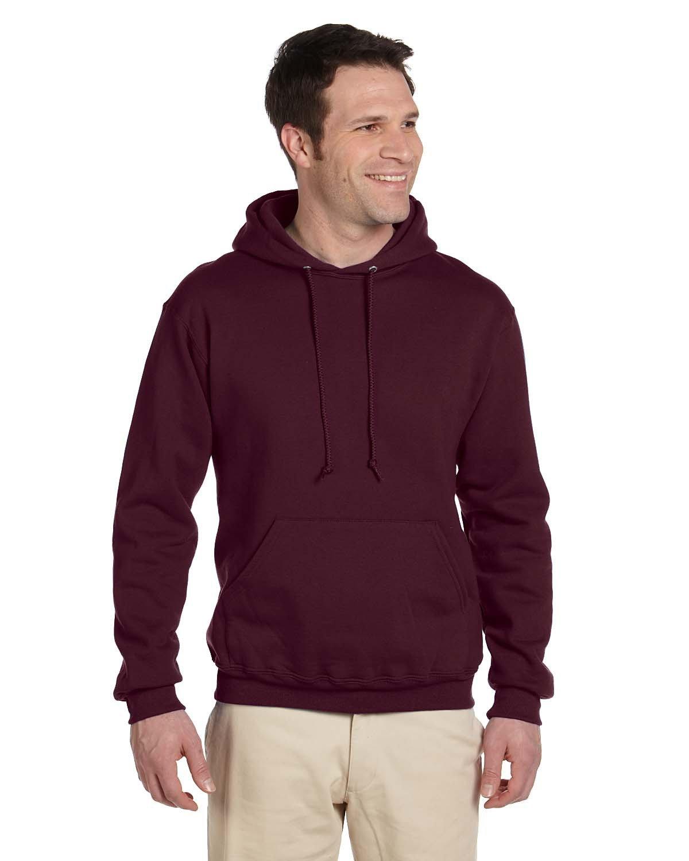 Jerzees Adult Super Sweats® NuBlend® Fleece Pullover Hooded Sweatshirt MAROON