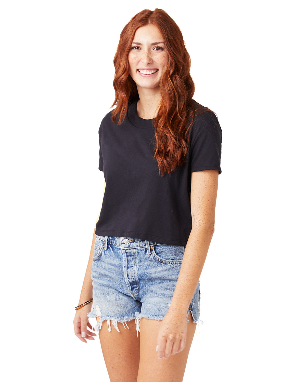 Alternative Ladies' Headliner Cropped T-Shirt BLACK