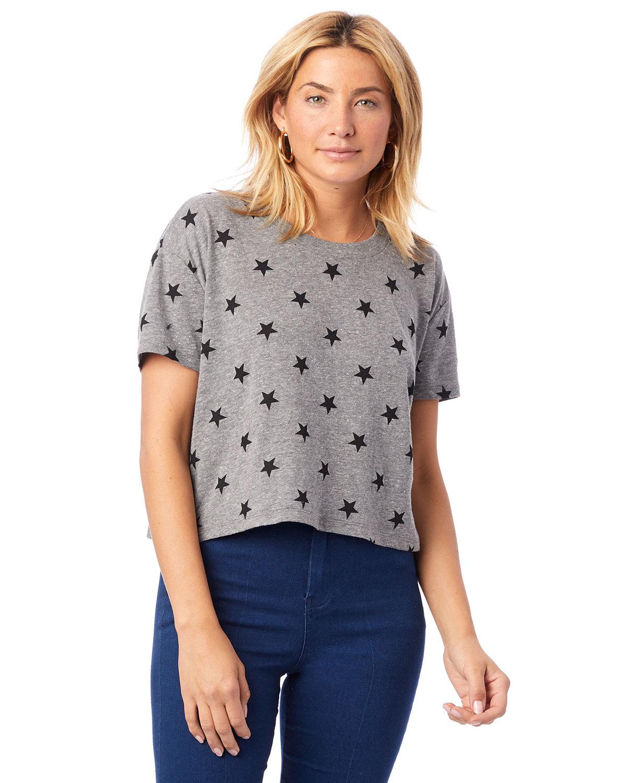 Alternative Ladies' Headliner Cropped T-Shirt ECO GREY STARS