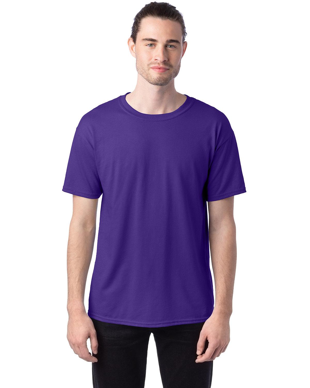 Hanes Unisex 50/50 T-Shirt PURPLE