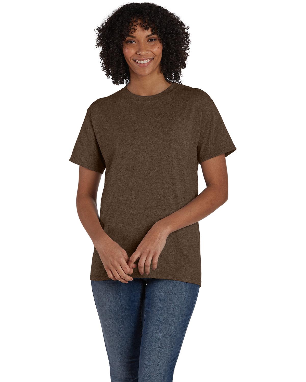 Hanes Unisex 50/50 T-Shirt HEATHER BROWN