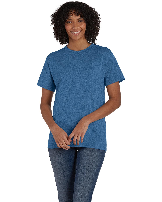 Hanes Unisex 50/50 T-Shirt HEATHER BLUE