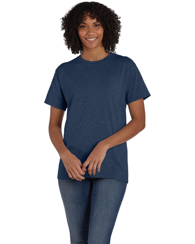 Hanes Unisex 50/50 T-Shirt HEATHER NAVY