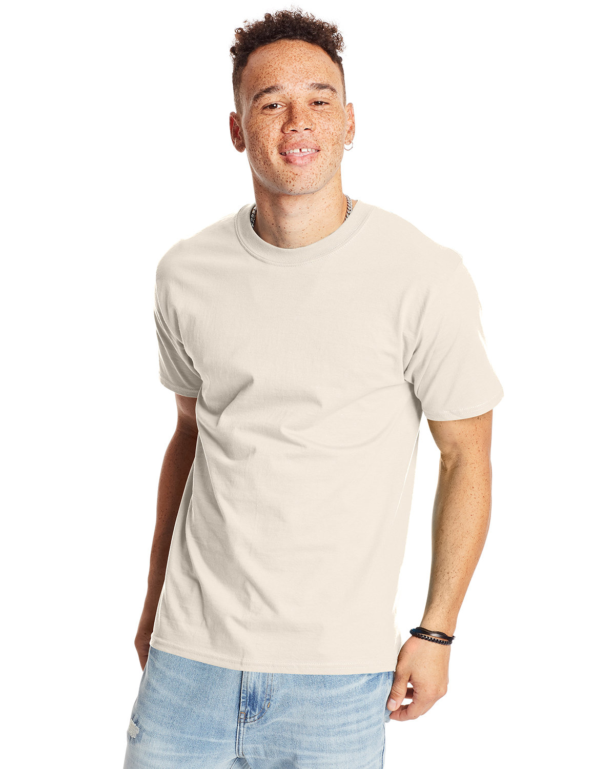 Hanes Unisex Beefy-T® T-Shirt NATURAL