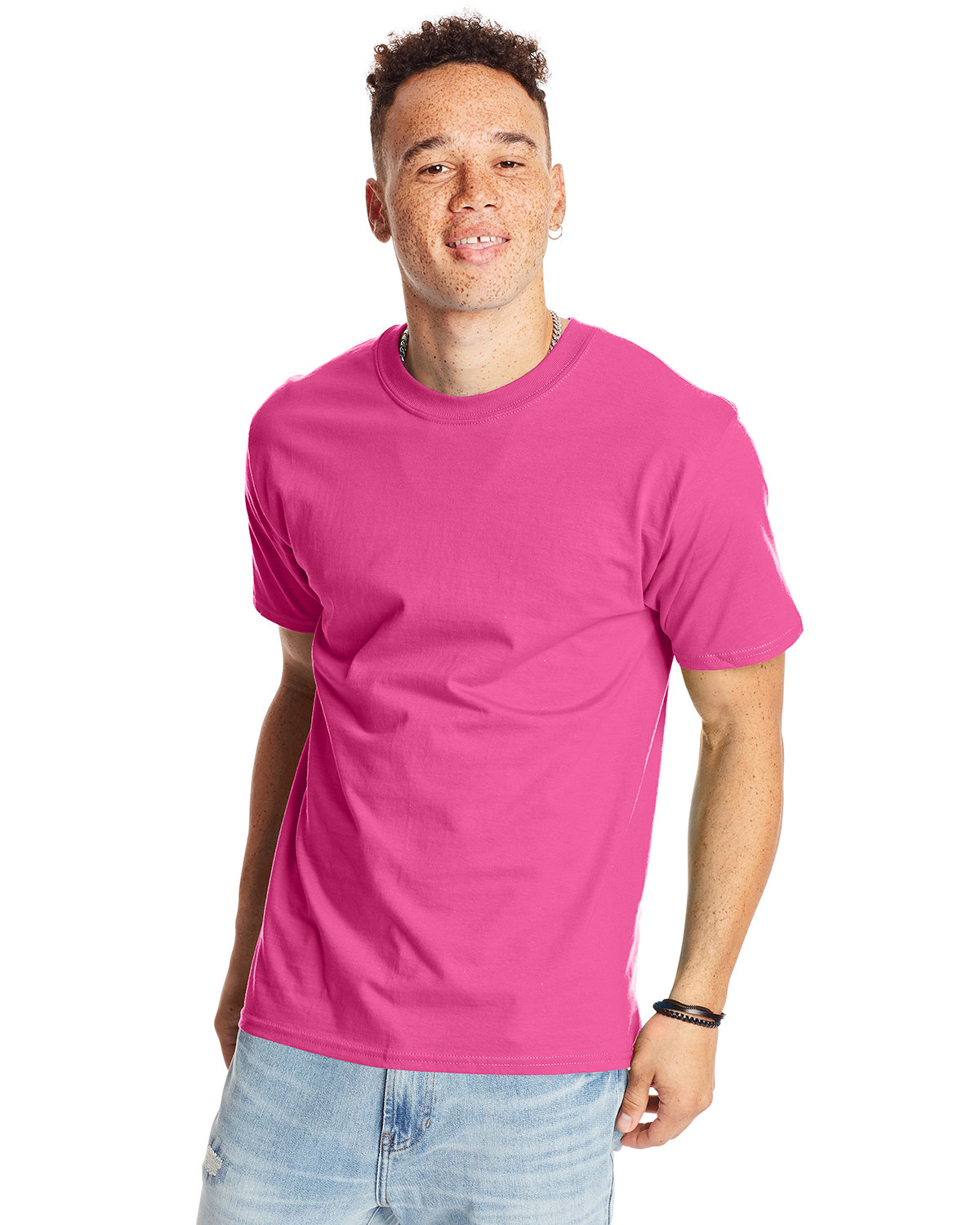 Hanes Unisex Beefy-T® T-Shirt WOW PINK