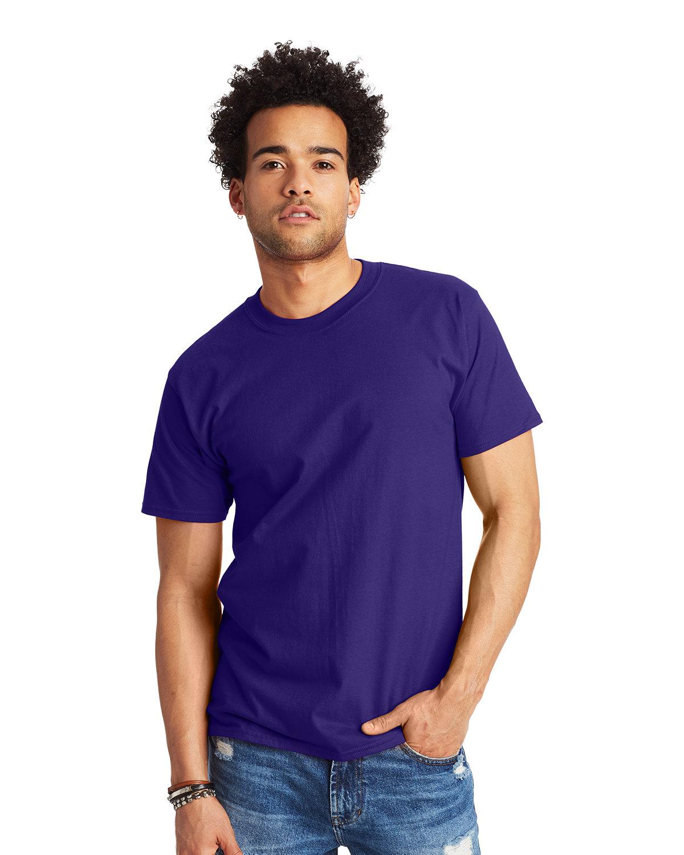 Hanes Unisex Beefy-T® T-Shirt PURPLE