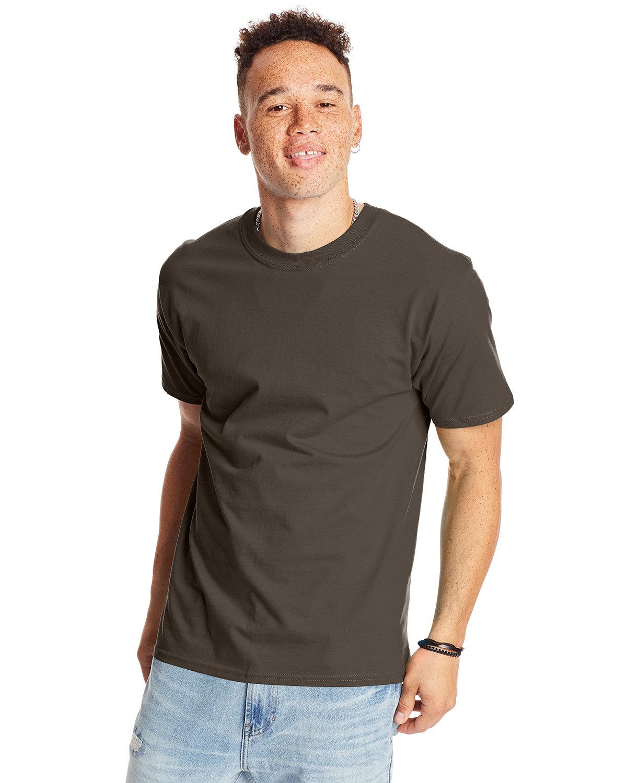Hanes Unisex Beefy-T® T-Shirt DARK CHOCOLATE