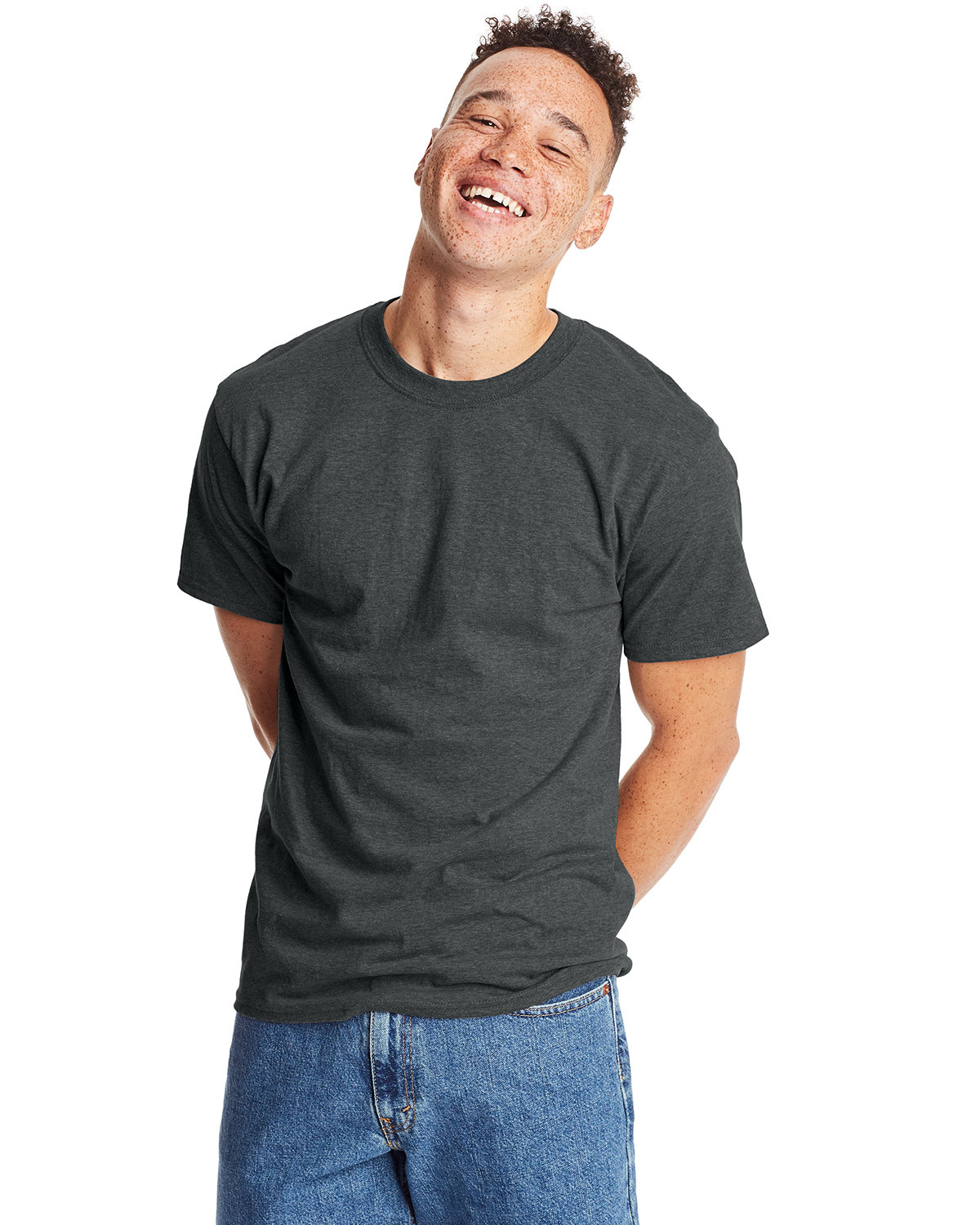 Hanes Unisex Beefy-T® T-Shirt CHARCOAL HEATHER