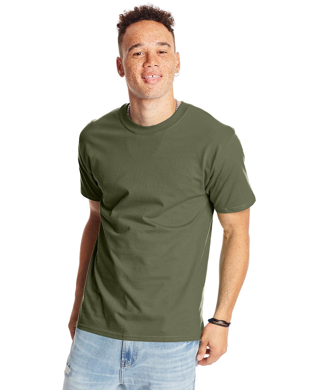 Hanes Unisex Beefy-T® T-Shirt FATIGUE GREEN