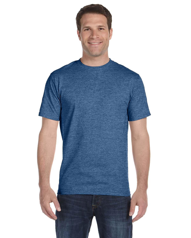 Hanes Unisex Beefy-T® T-Shirt HEATHER BLUE