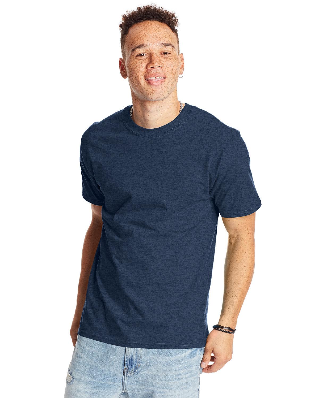 Hanes Unisex Beefy-T® T-Shirt HEATHER NAVY