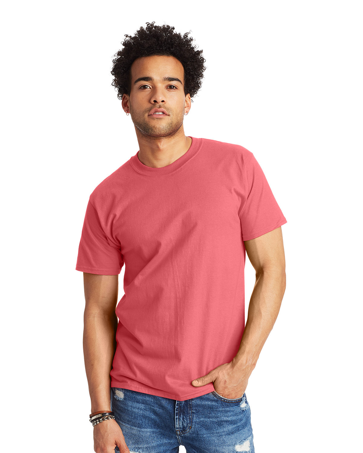 Hanes Unisex Beefy-T® T-Shirt CHARISMA CORAL