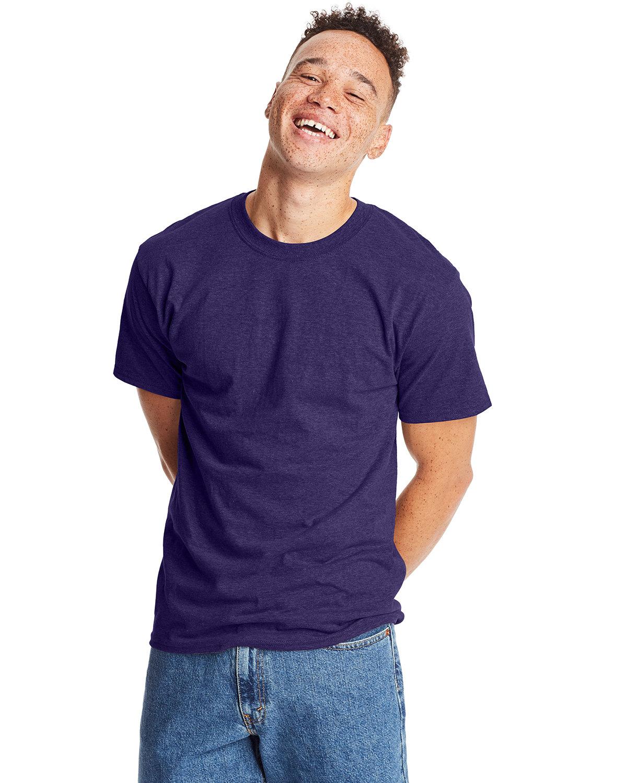 Hanes Unisex Beefy-T® T-Shirt GRAPE SMASH HTHR