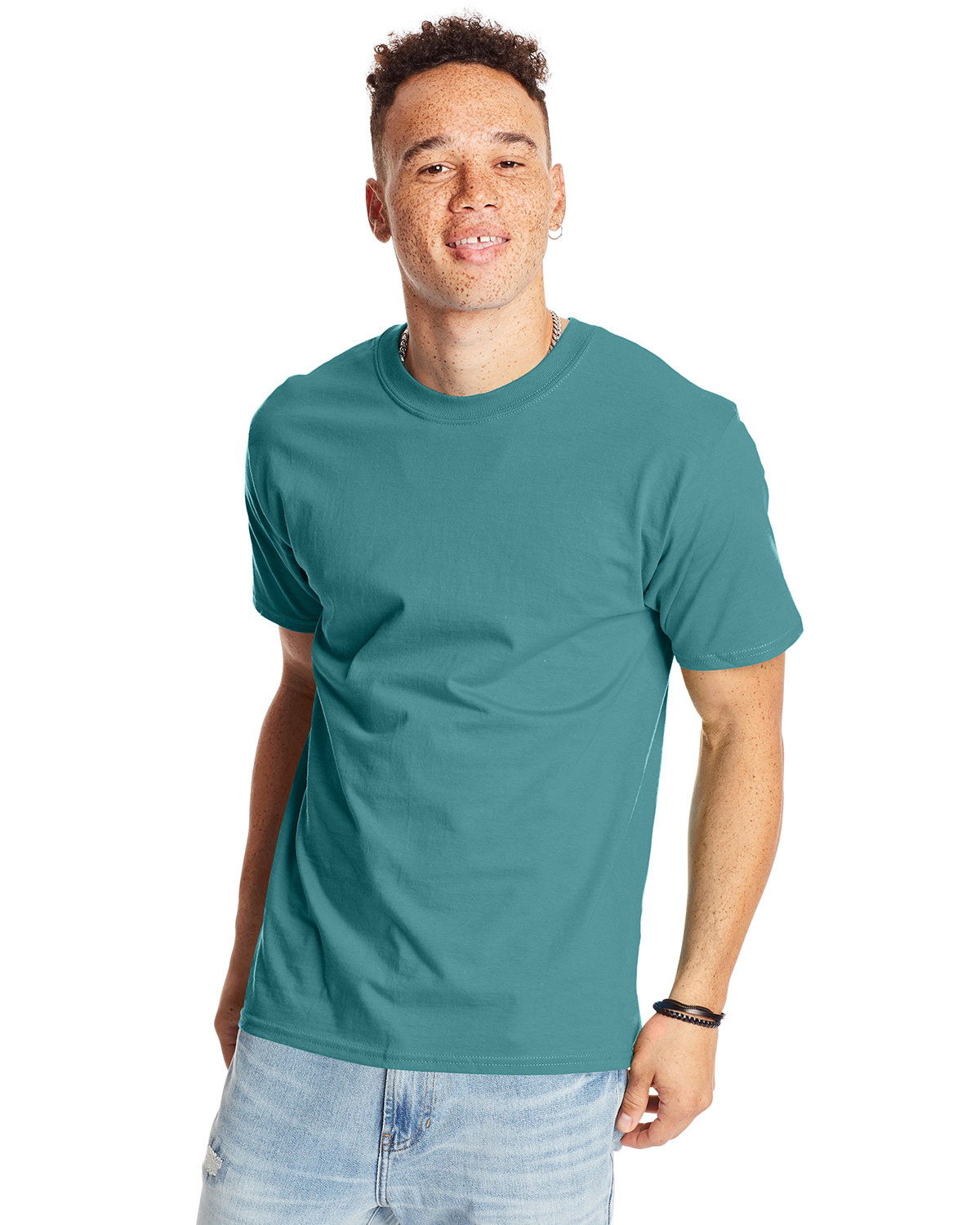 Hanes Unisex Beefy-T® T-Shirt GREEN CLAY