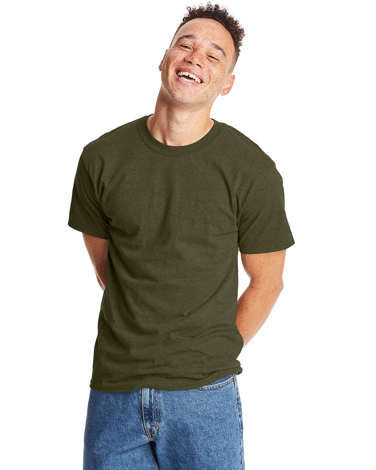 Hanes Unisex Beefy-T® T-Shirt MILITARY GRN HTH