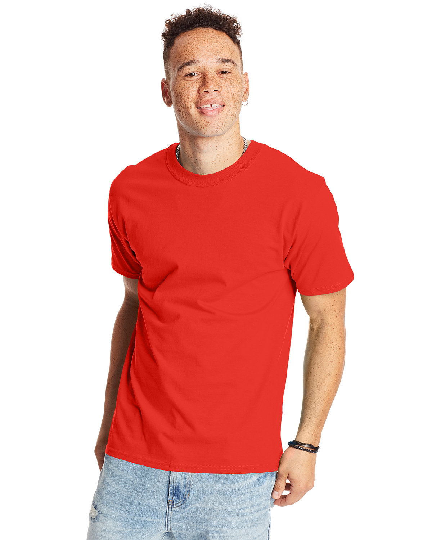 Hanes Unisex Beefy-T® T-Shirt POPPY RED