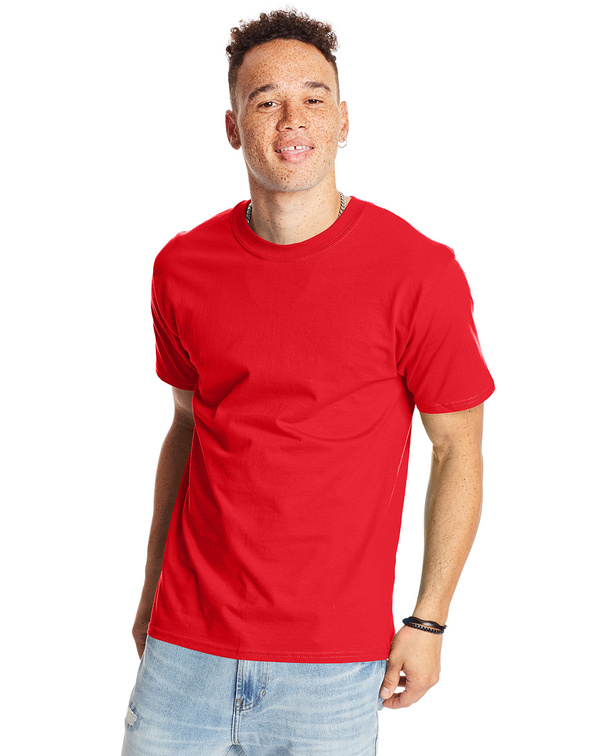 Hanes Unisex Beefy-T® T-Shirt ATHLETIC RED