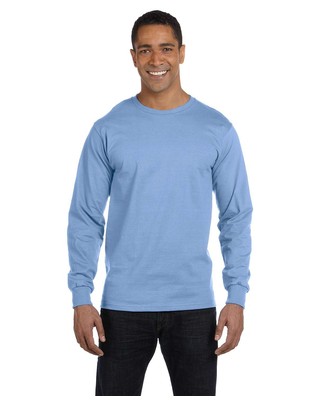Hanes Adult Long-Sleeve Beefy-T® LIGHT BLUE