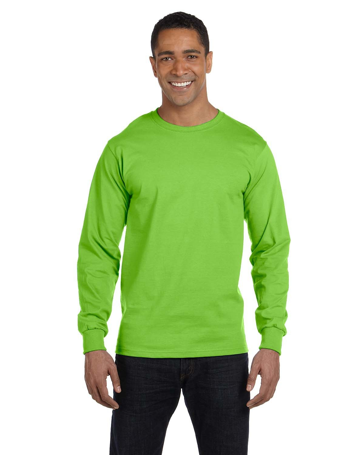 Hanes Adult Long-Sleeve Beefy-T® LIME