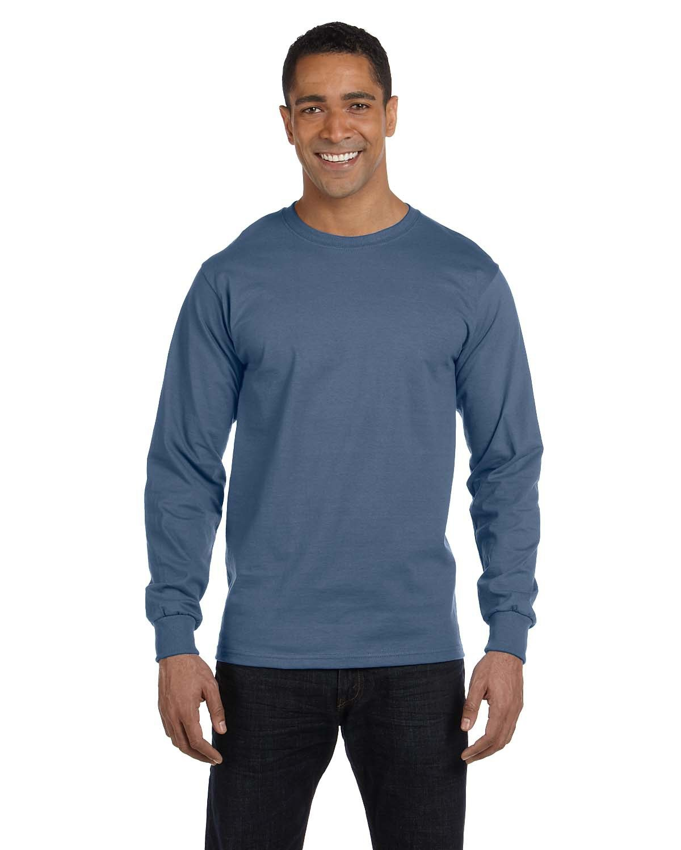 Hanes Adult Long-Sleeve Beefy-T® DENIM BLUE