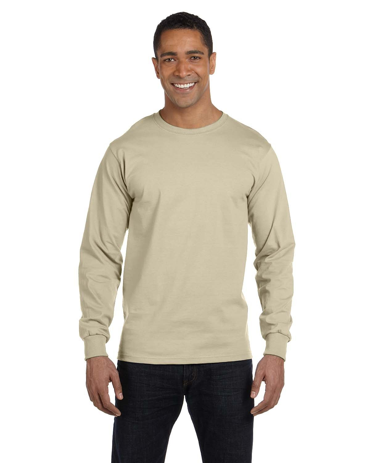 Hanes Adult Long-Sleeve Beefy-T® SAND