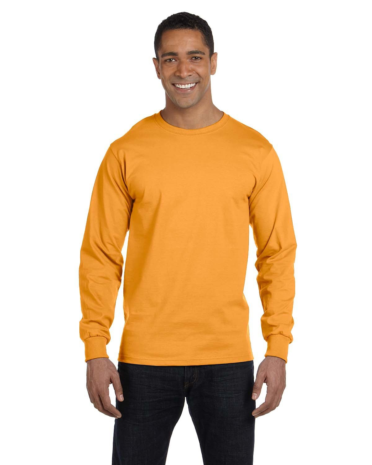 Hanes Adult Long-Sleeve Beefy-T® GOLD
