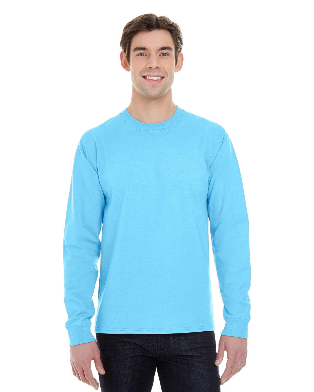 Hanes Adult Long-Sleeve Beefy-T® BLUE HORIZON