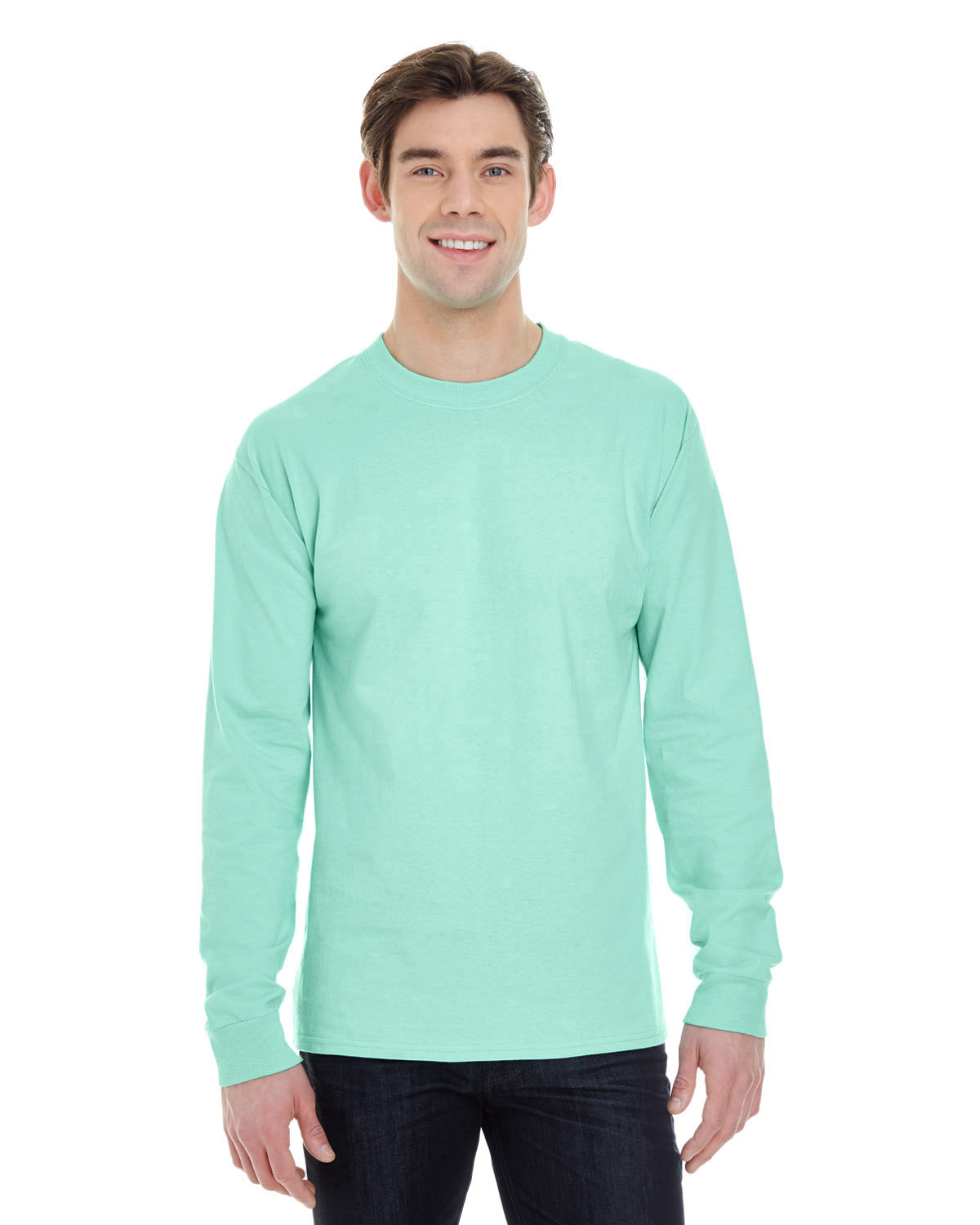 Hanes Adult Long-Sleeve Beefy-T® CLEAN MINT
