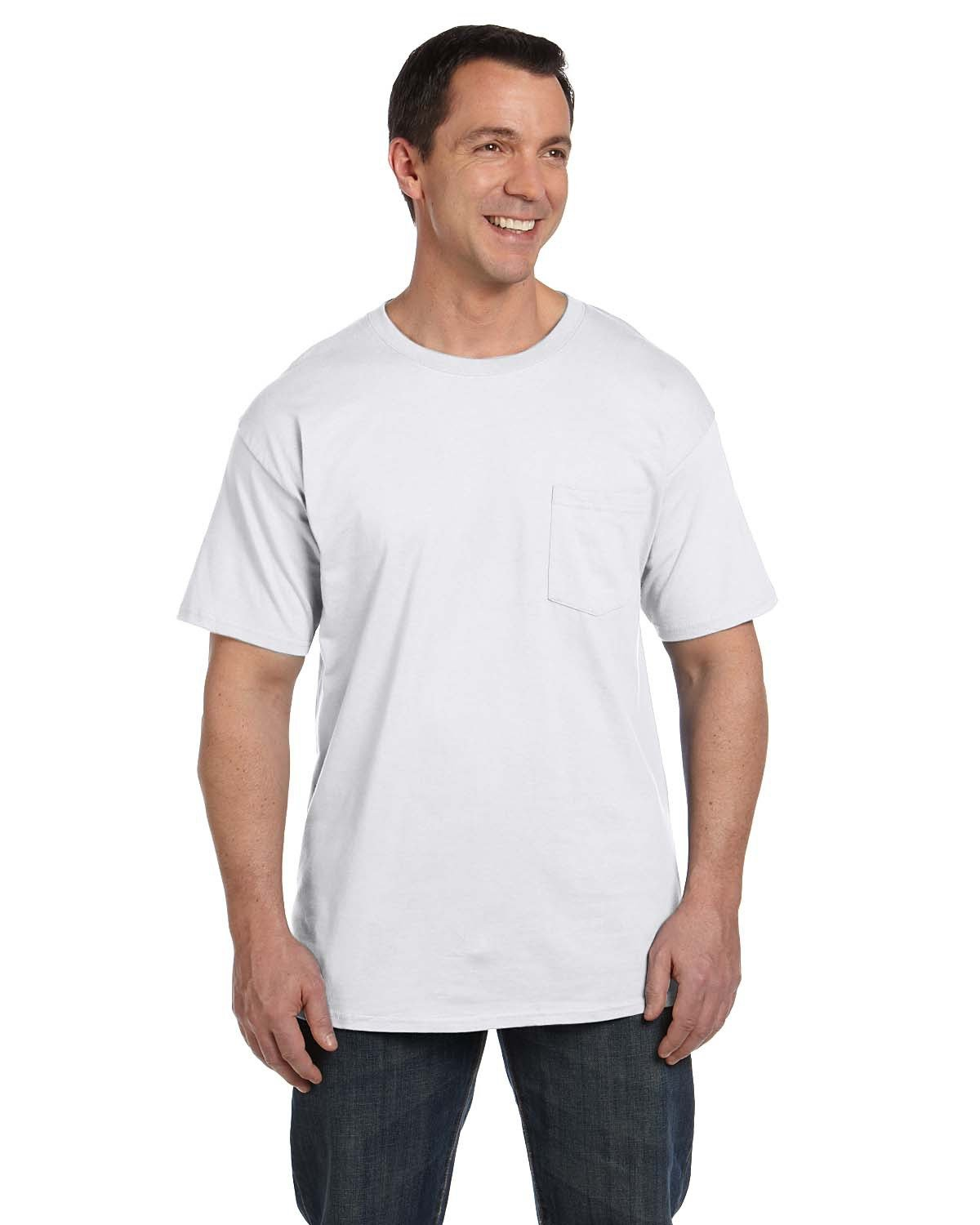 Hanes Adult Beefy-T® with Pocket WHITE