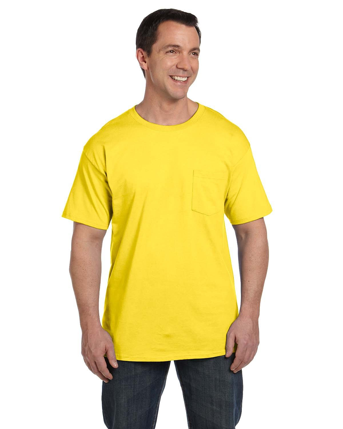 Hanes Adult Beefy-T® with Pocket YELLOW