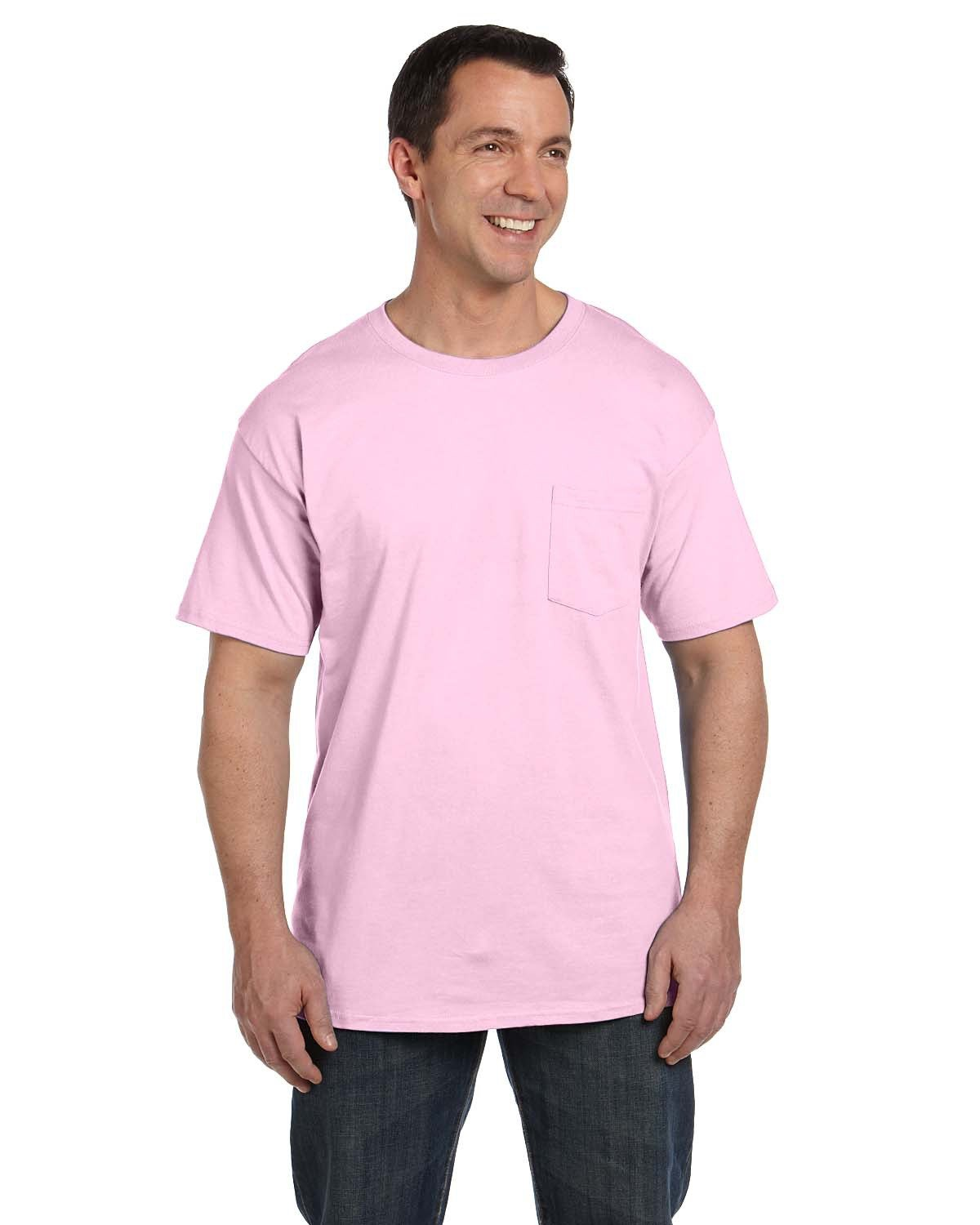 Hanes Adult Beefy-T® with Pocket PALE PINK