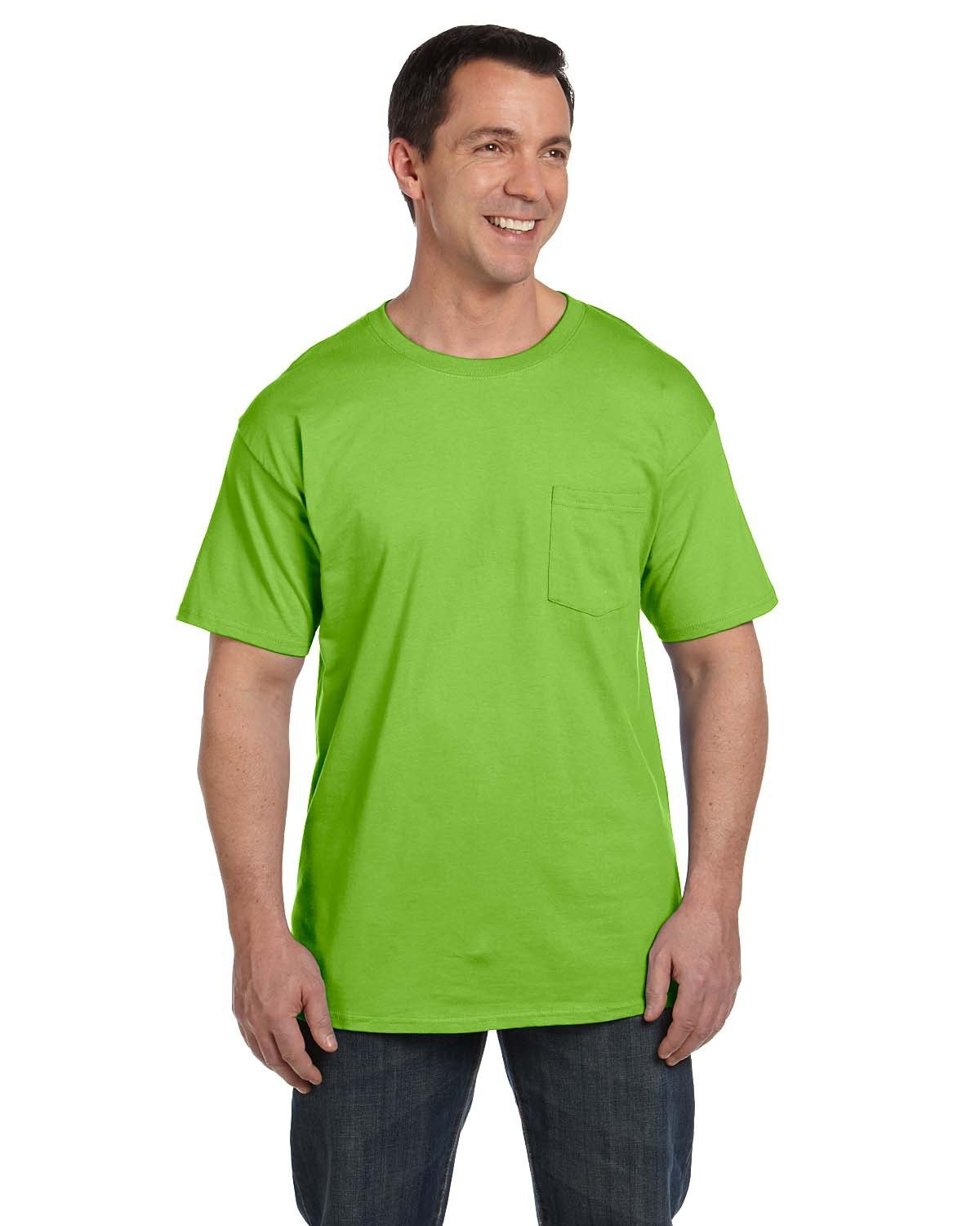 Hanes Adult Beefy-T® with Pocket LIME
