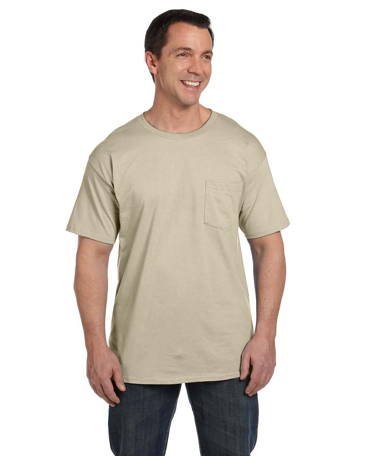 Hanes Adult Beefy-T® with Pocket SAND