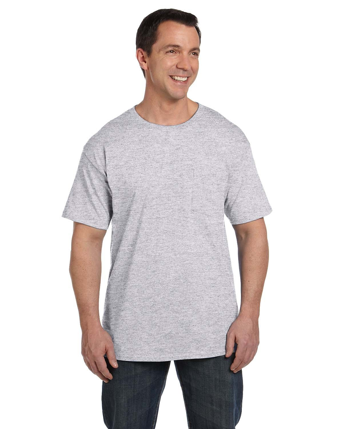 Hanes Adult Beefy-T® with Pocket ASH