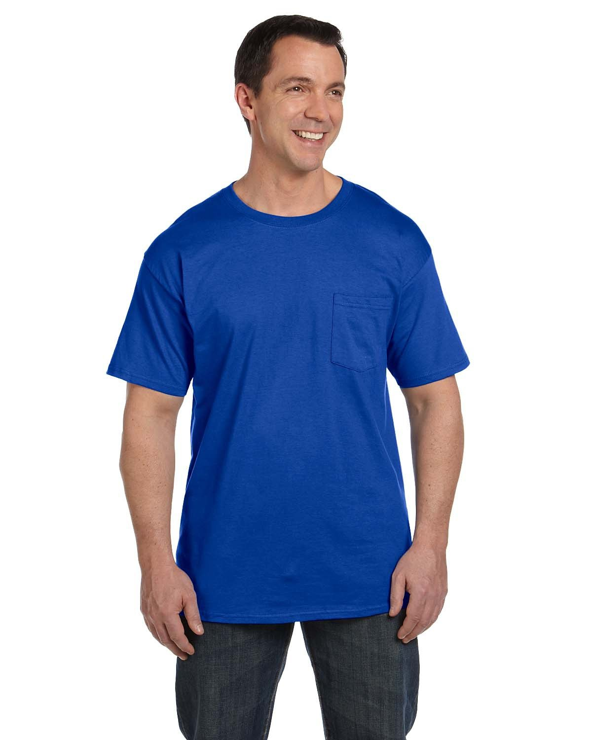 Hanes Adult Beefy-T® with Pocket DEEP ROYAL