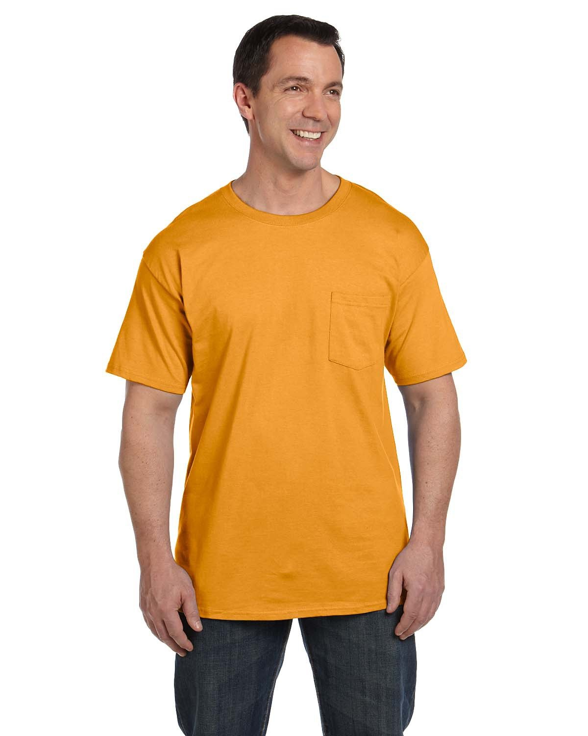 Hanes Adult Beefy-T® with Pocket GOLD