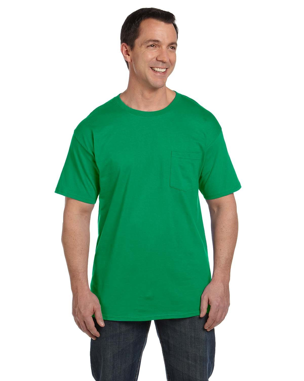 Hanes Adult Beefy-T® with Pocket KELLY GREEN
