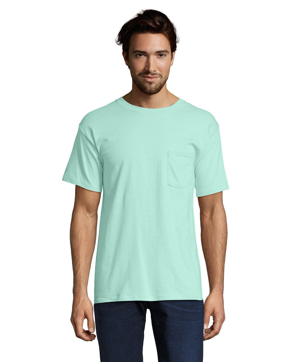 Hanes Adult Beefy-T® with Pocket CLEAN MINT