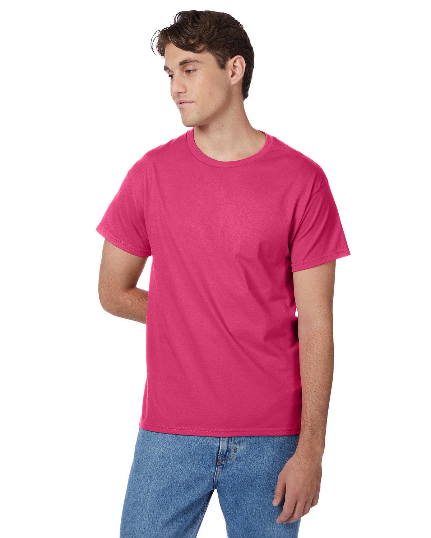 Hanes Men's Authentic-T T-Shirt WOW PINK