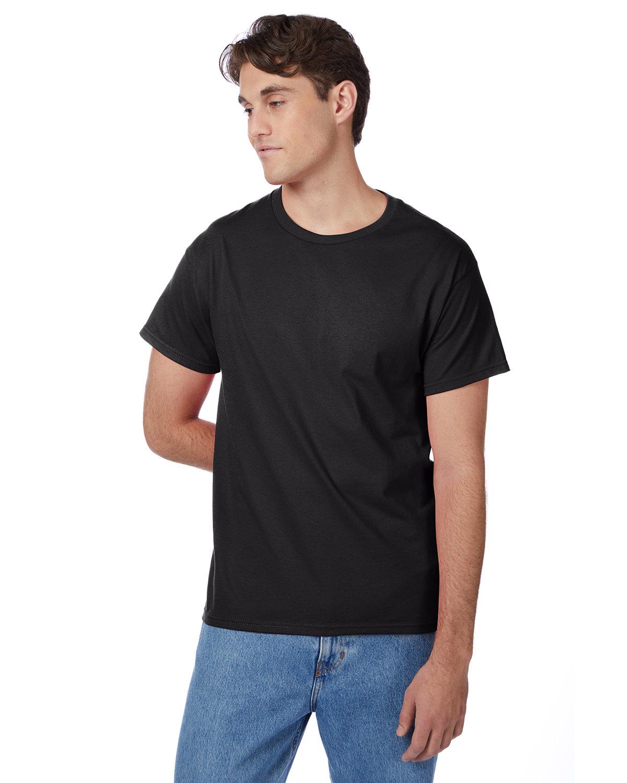 Hanes Men's Authentic-T T-Shirt BLACK