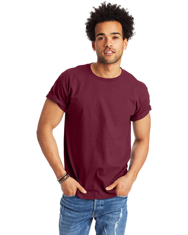 Hanes Men's Authentic-T T-Shirt MAROON