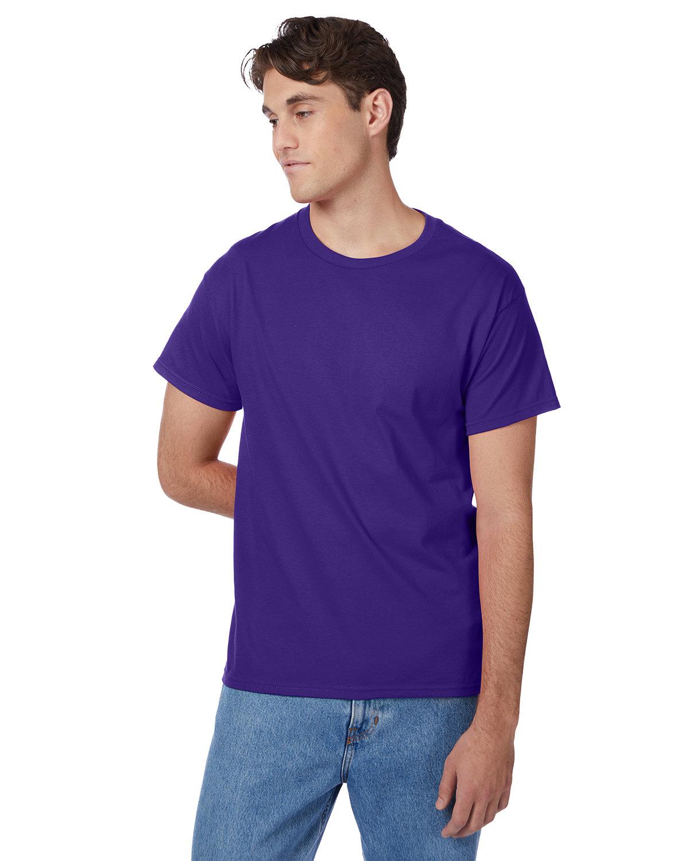 Hanes Men's Authentic-T T-Shirt PURPLE